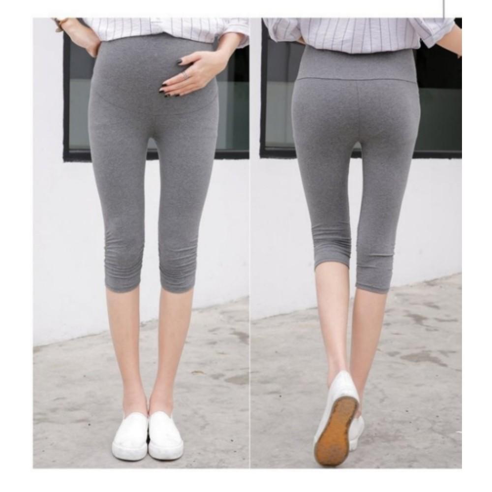 內搭褲 【L0112XD】抓皺 托腹褲 孕婦褲 七分 高腰托腹 內搭褲 孕婦裝 超好穿