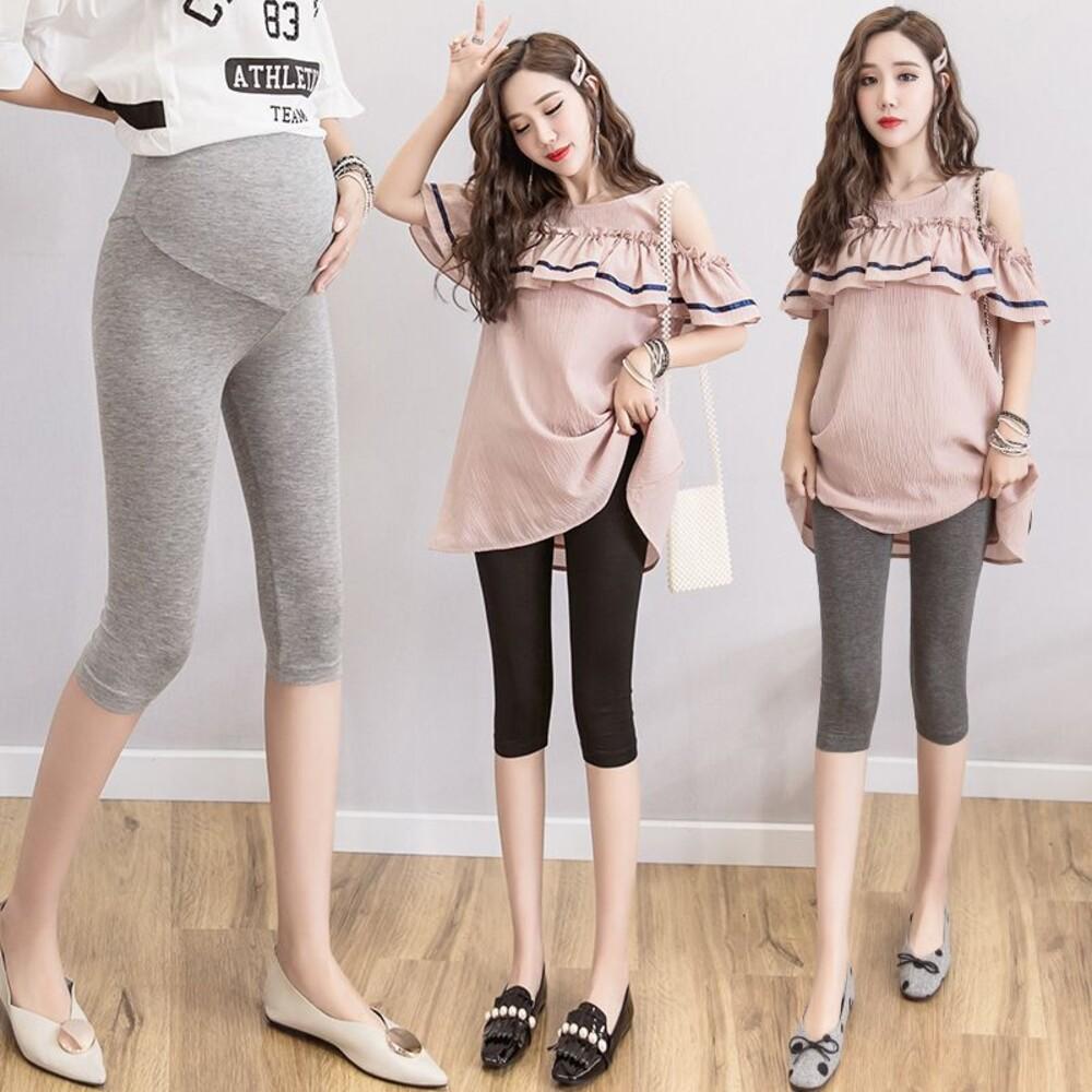 L531-加大尺碼內搭褲 【L531】 超好穿5%萊卡+95%純棉七分內搭褲洋裝必搭 孕婦裝