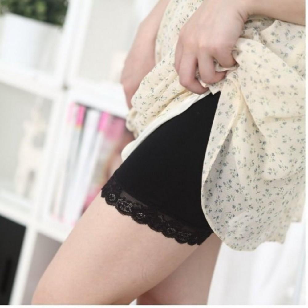孕婦托腹安全褲 【L715HK】 防走光安全褲 孕婦莫代爾短褲三分褲 五分花邊褲 孕婦褲