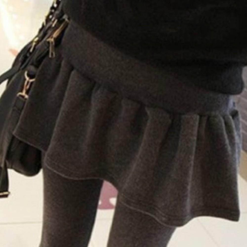 L851SLP - 假兩件托腹褲裙 【L851SLP】 不倒絨 褲裙 加絨 孕婦裝 保暖 孕婦褲 孕婦托腹褲