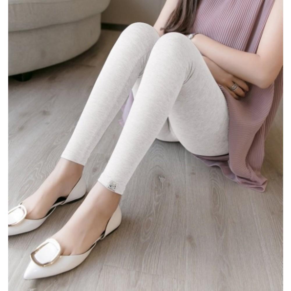 高腰內搭褲 【L9017】輕柔 超舒適 親膚 莫代爾 孕婦 內搭褲 高腰 托腹褲 孕婦裝