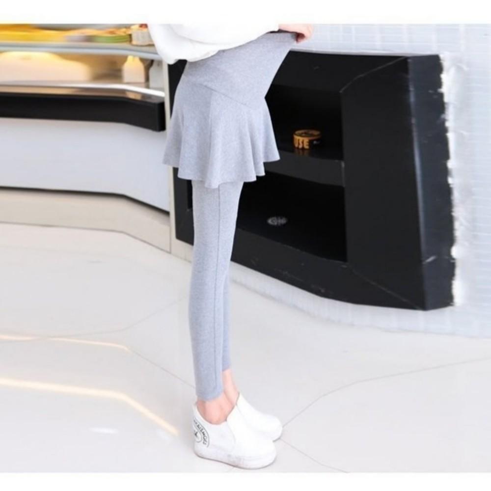 假二件哺乳褲裙 【L902BQ】 短裙 夏日柔棉 孕婦內搭褲 假兩件 托腹 加大尺碼 腰圍可