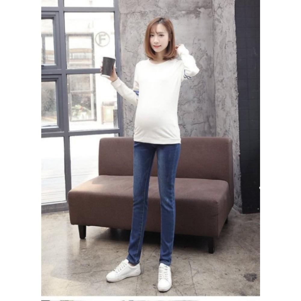 孕婦牛仔褲 【P0187】 孕婦 牛仔褲 孕婦裝 寬鬆 長褲 托腹褲 孕婦單寧褲