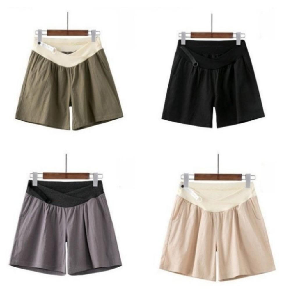 韓國熱銷托腹短褲 【P0236】 棉麻 孕婦 短褲 低腰 孕婦褲 運動風 孕婦短褲 封面照片