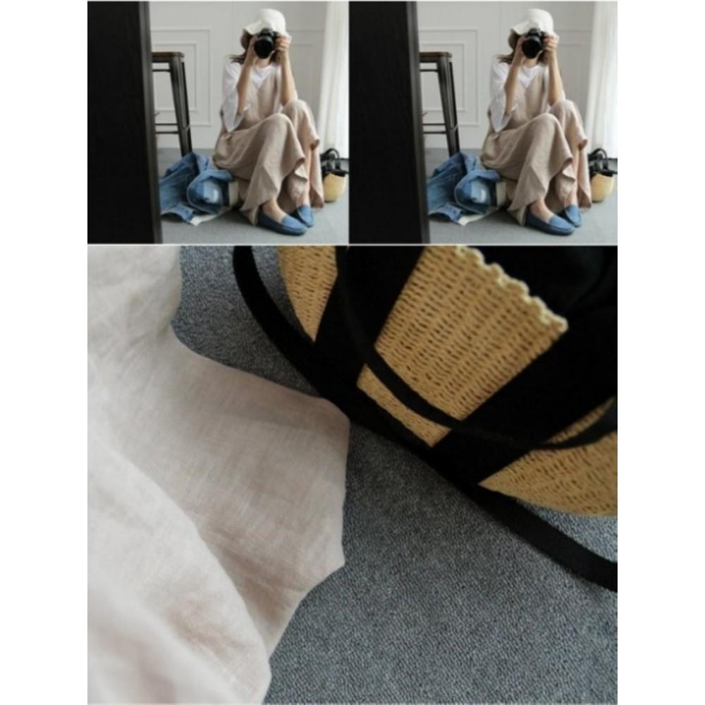 棉麻吊帶寬褲 【P0517】 薄款 純色 吊帶褲 寬褲 孕婦裝 孕婦長褲 連身褲 背帶褲 褲裙