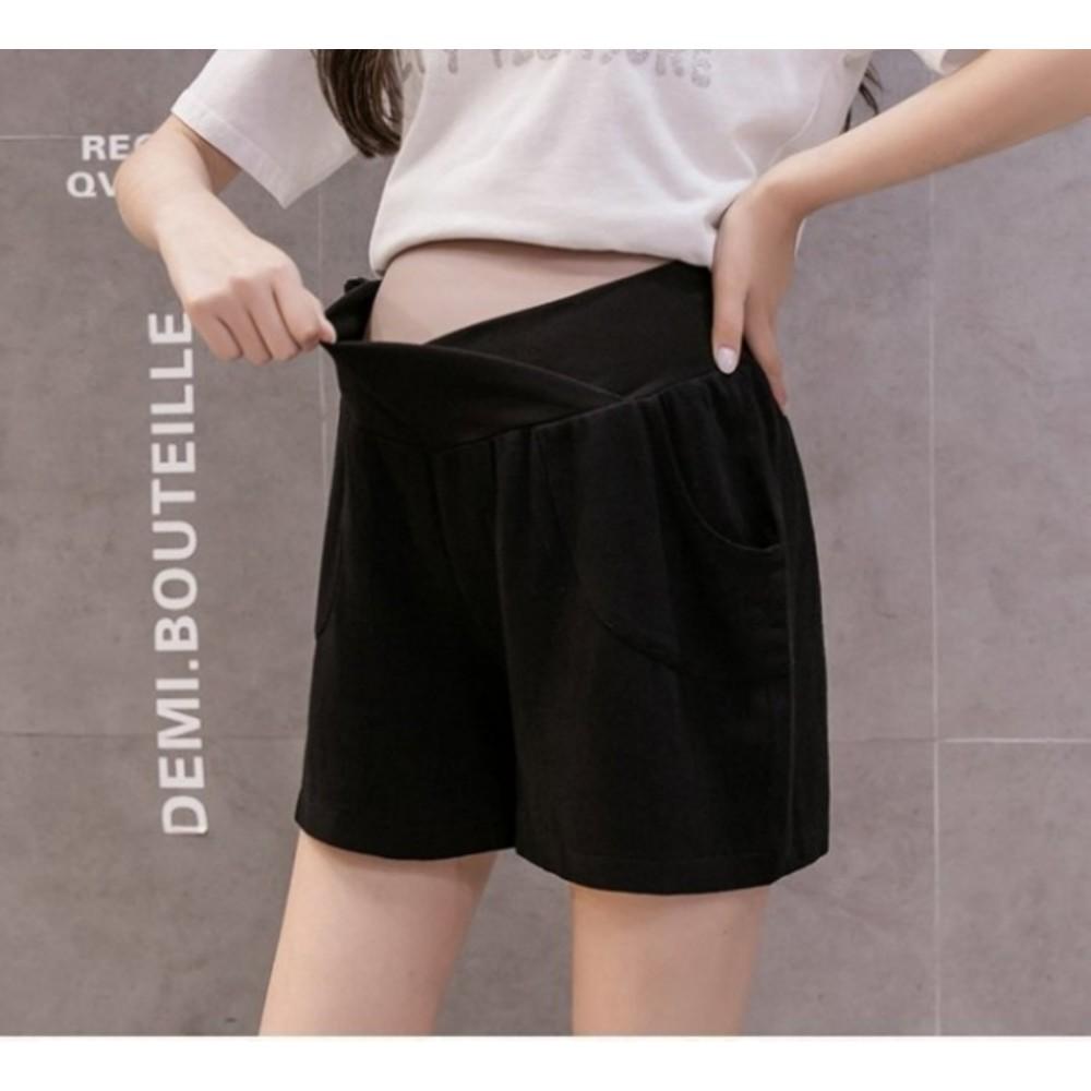 韓系 托腹短褲 【P1008】亞麻 高腰 低腰 托腹 棉麻 孕婦短褲 運動風 短褲