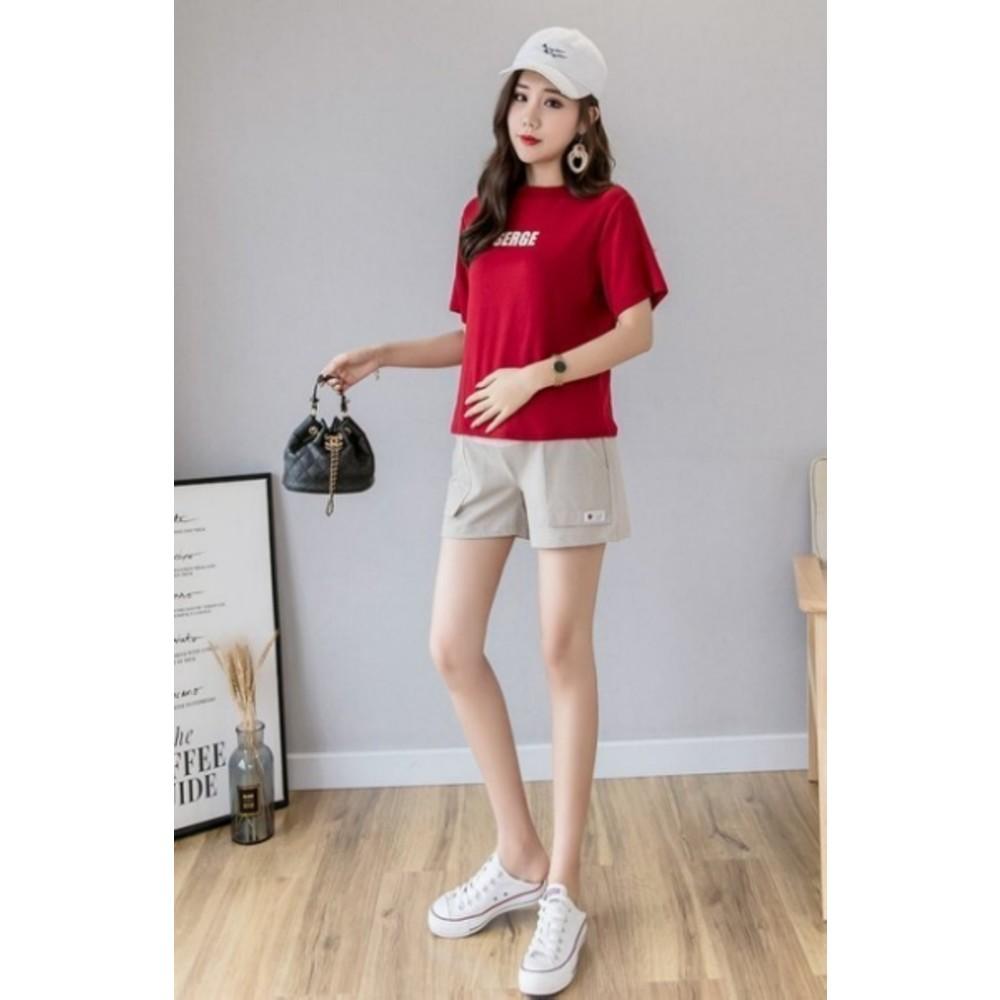托腹短褲 【P1133】 純色 高腰 托腹褲 孕婦短褲 孕婦裝 孕婦褲 孕婦