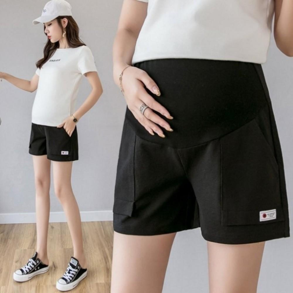 P1133-托腹短褲 【P1133】 純色 高腰 托腹褲 孕婦短褲 孕婦裝 孕婦褲 孕婦