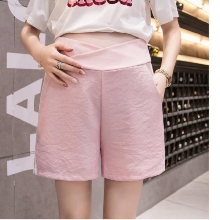 低腰 托腹短褲 【P1192】 棉麻 孕婦 短褲 運動褲 條紋 孕婦褲 孕婦裝 孕婦短褲