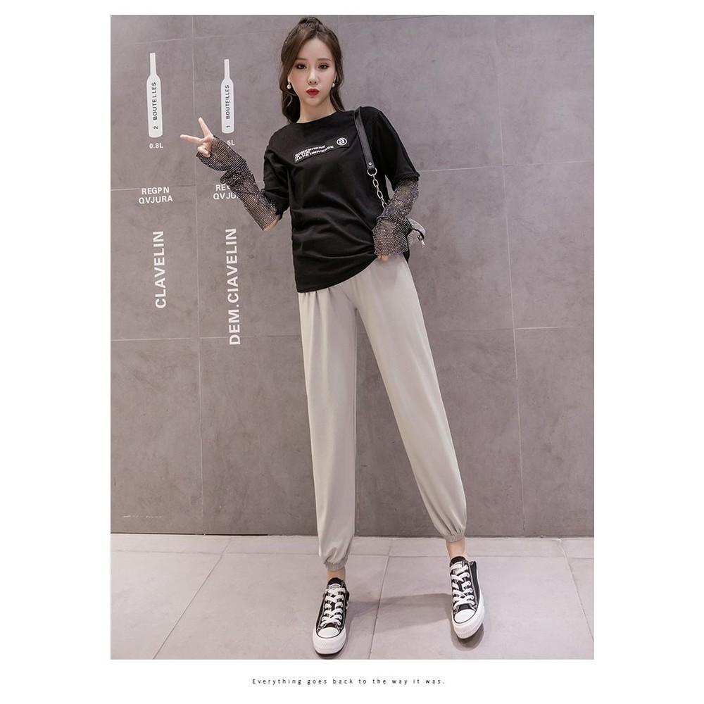 哈倫托腹褲【P1503】 秋裝外穿加長運動褲打底休閒時尚寬鬆 M-XXL 燈籠哈倫褲