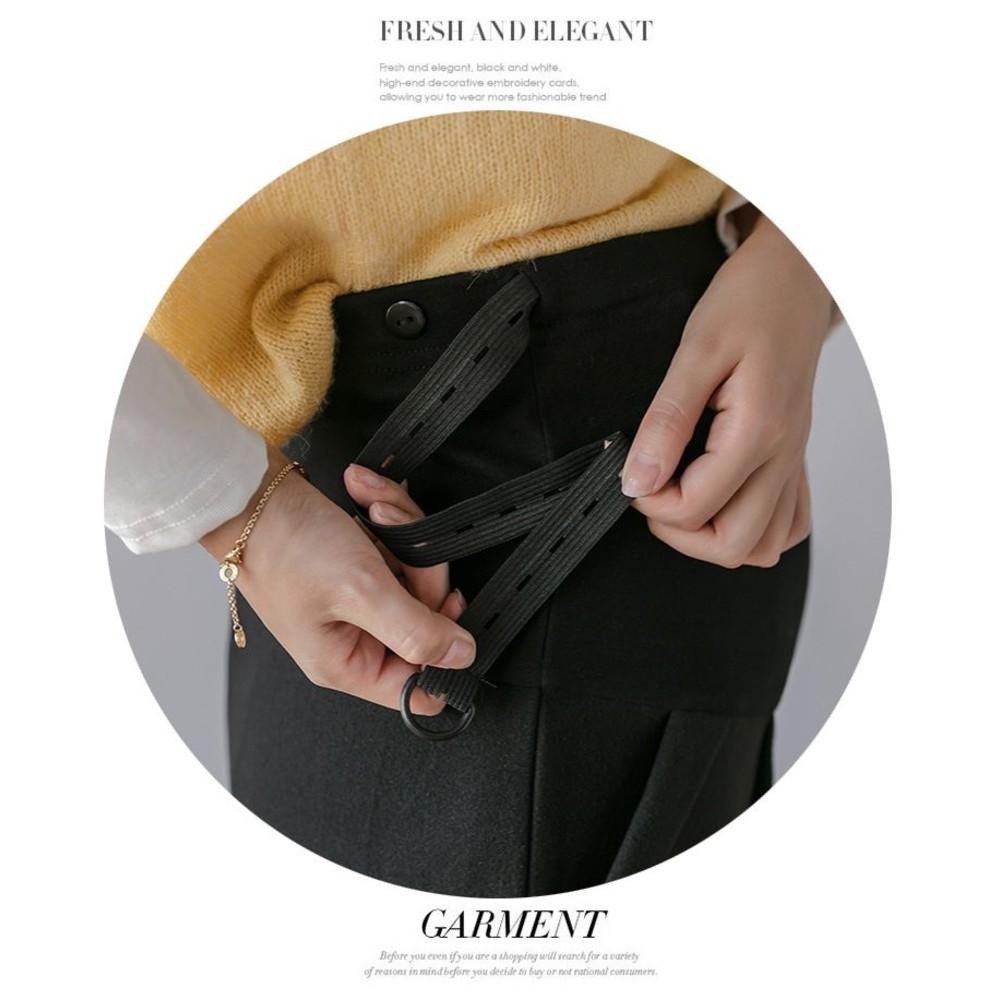毛呢托腹短褲【P1511】 M-3XL 皮邊秋裝孕婦西裝款短褲大碼外穿潮媽冬裝褲子