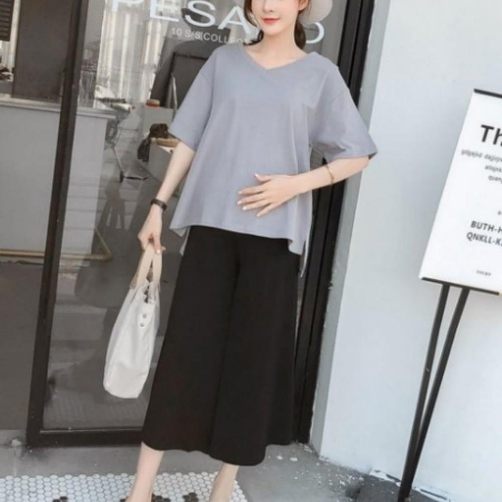 韓國托腹褲 【P1727】 托腹 寬褲 輕柔 莫代爾 孕婦褲 孕婦托腹褲 加大碼 孕婦裝