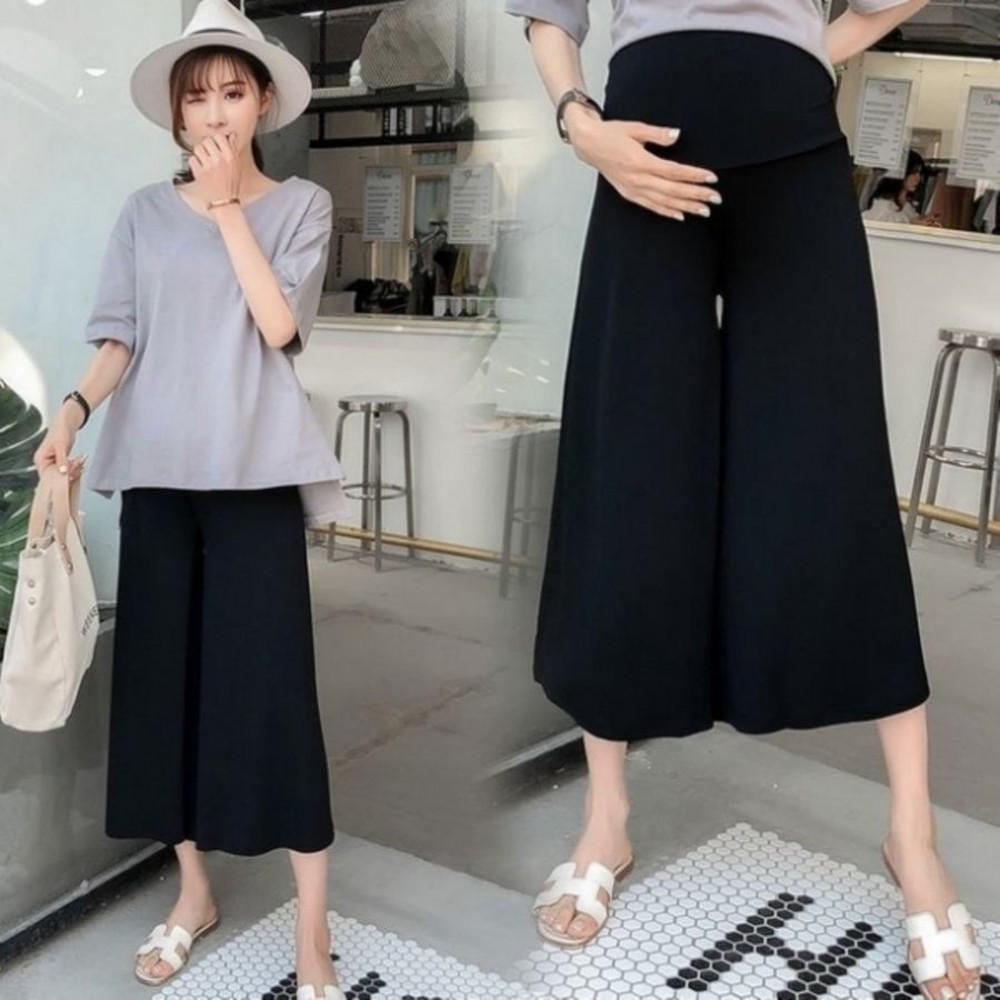 韓國托腹褲 【P1727】 托腹 寬褲 輕柔 莫代爾 孕婦褲 孕婦托腹褲 加大碼 孕婦裝 封面照片