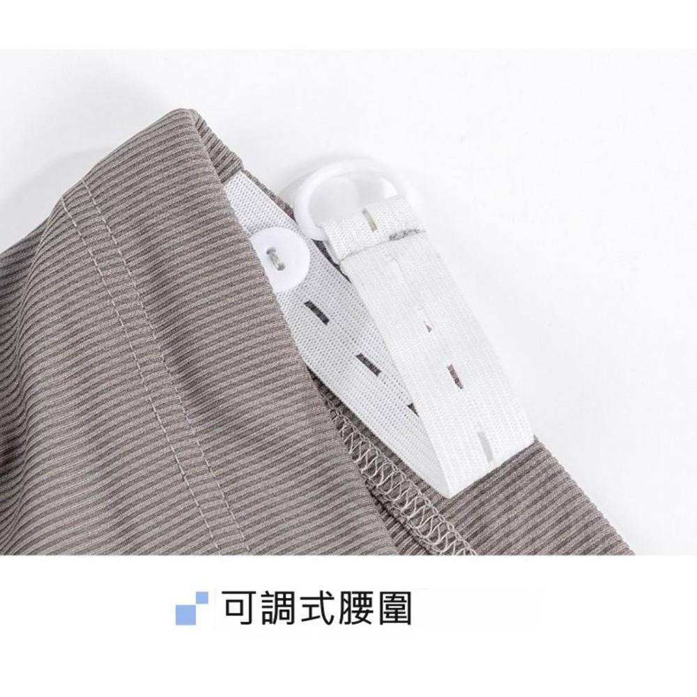 韓系 實拍 冰絲 涼感 孕婦 寬褲 【P2635】坑條 九分 寬鬆 高腰 托腹 運動 孕婦褲
