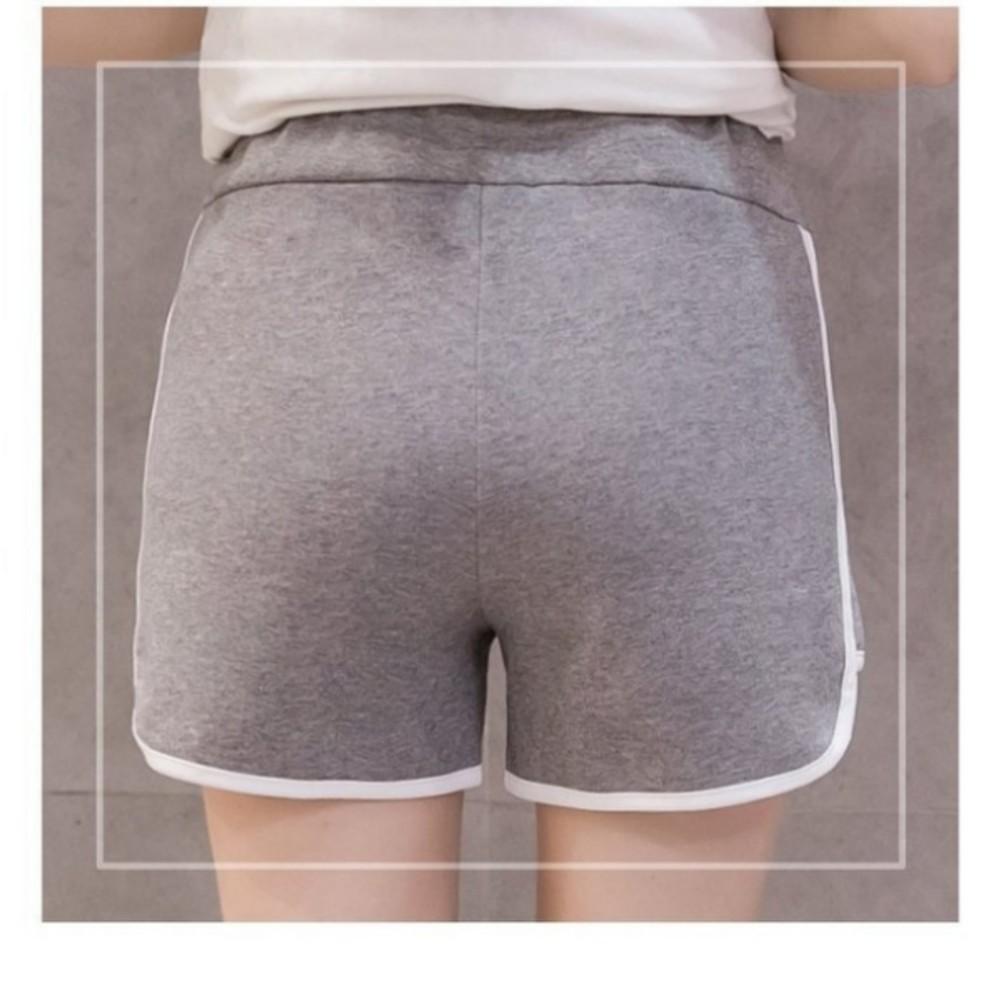 韓系 托腹短褲 【P2720】運動褲 孕婦 短褲 低腰 孕婦褲 純色 運動短褲 孕婦短褲