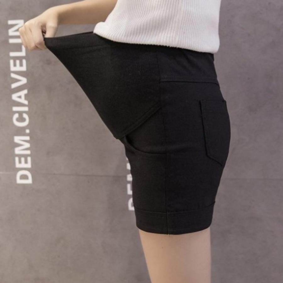 P3232-孕婦短褲 【P3232】 純色 短褲 高腰 托腹 顯瘦 彈力 孕婦托腹褲 托腹短褲