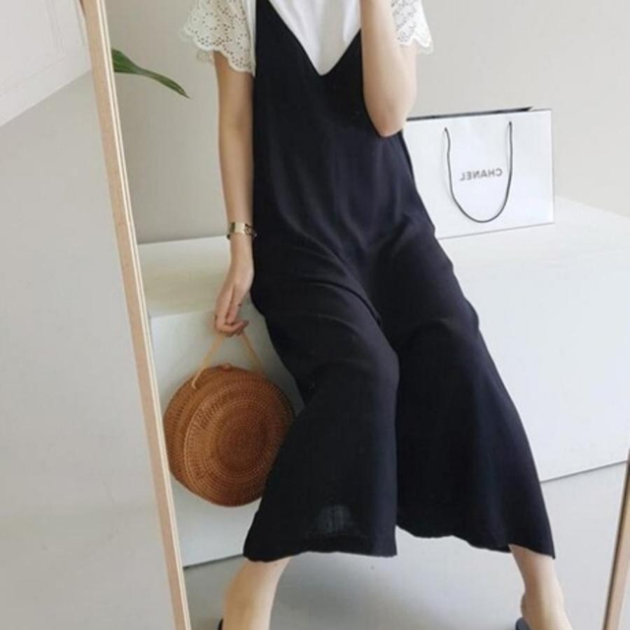 兩件式吊帶寬褲 【P3283】 兩件式 寬鬆 吊帶褲 寬褲 背帶褲 孕婦褲 孕婦裝 吊帶寬褲