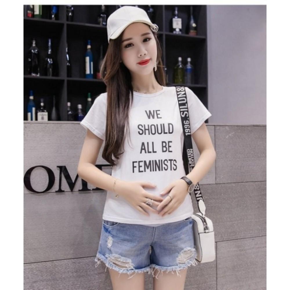 磨破托腹褲 【P3331】 毛邊 孕婦牛仔短褲 破洞 牛仔褲 孕婦褲 抓鬚 孕婦短褲
