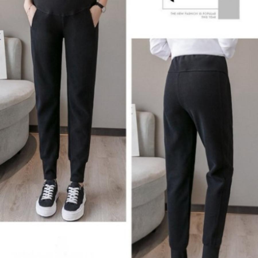 孕婦長褲 【P3504】 加絨 加厚 運動褲 條紋 束口褲 休閒褲 哈倫褲 托腹褲 縮口褲