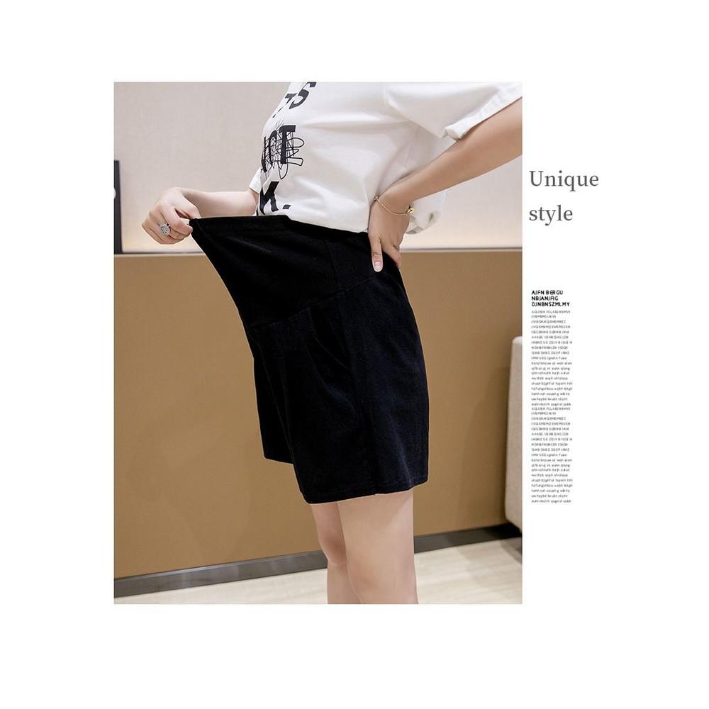 韓系 實拍 孕婦短褲【P3680】高腰托腹 短褲 棉麻 可調腰圍 寬鬆 短褲 孕婦裝