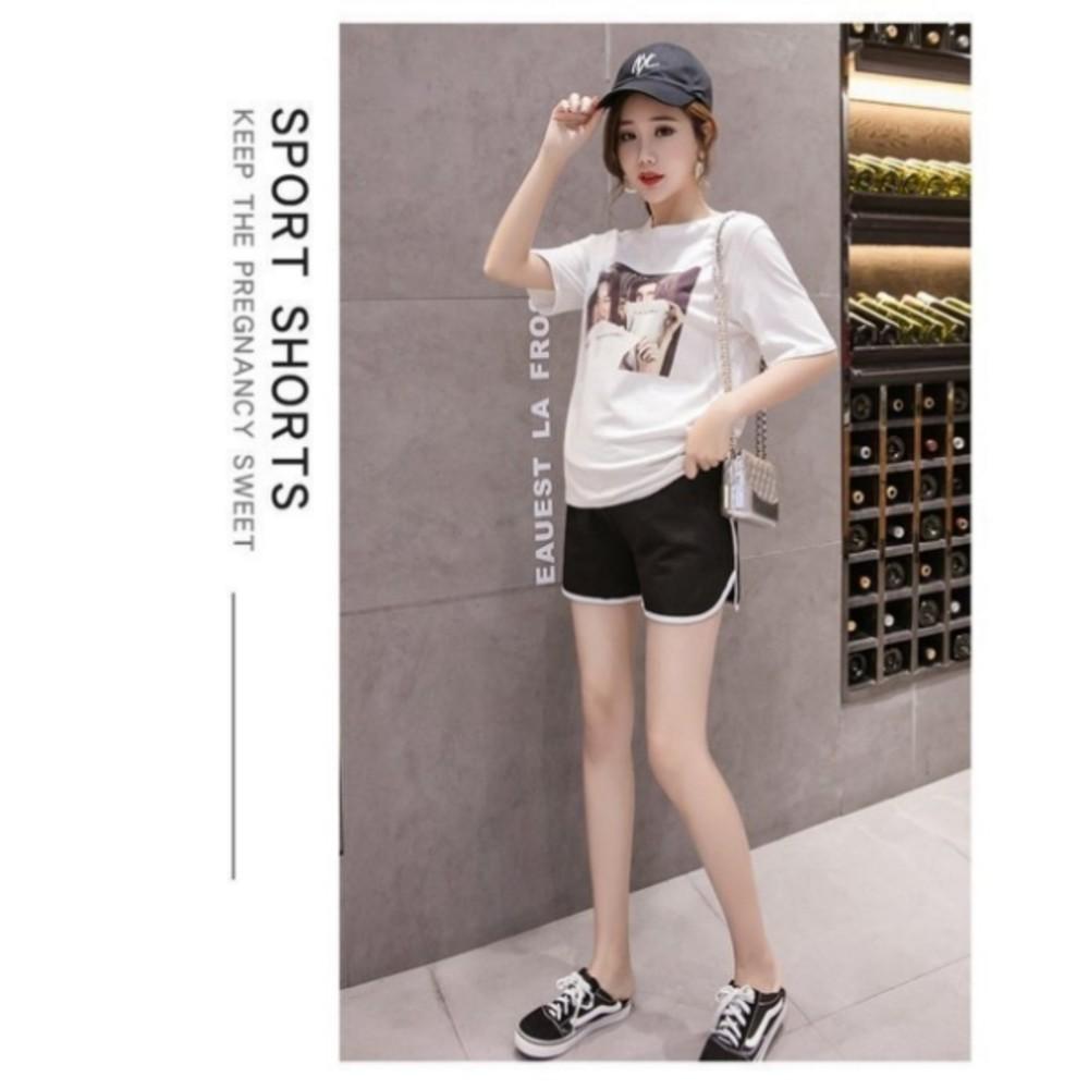 韓系 實拍 孕婦運動短褲 【P6001】低腰 孕婦 短褲 孕婦裝 孕婦短褲 運動風