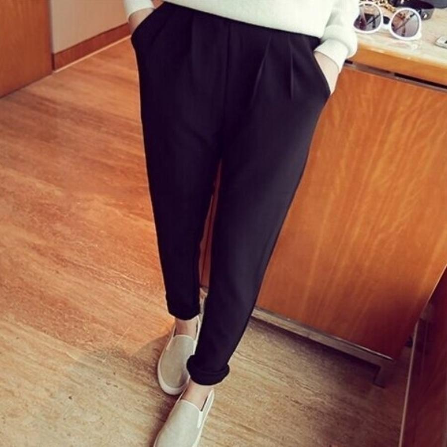 打摺托腹褲 【P7915TZ】 老爺褲 寬鬆 高腰托腹褲 孕婦長褲 孕婦裝 可反摺 孕婦褲