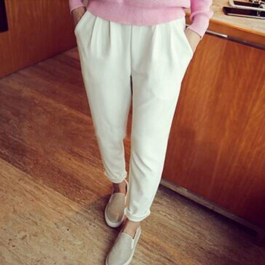 P7915TZ-打摺托腹褲 【P7915TZ】 老爺褲 寬鬆 高腰托腹褲 孕婦長褲 孕婦裝 可反摺 孕婦褲