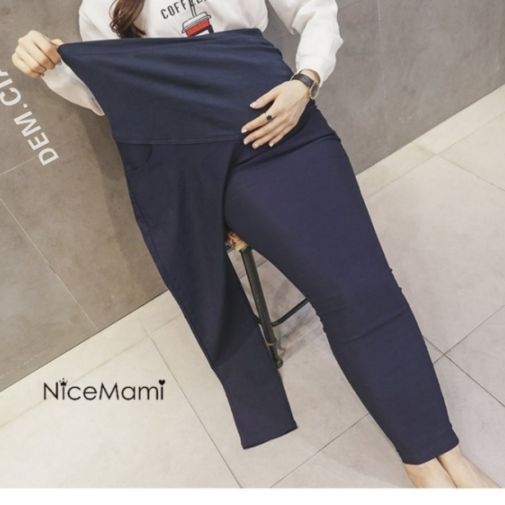 韓版托腹褲 【P8203】 3XL 超大碼 超彈力 孕婦褲 加大尺碼 孕婦長褲 孕婦托腹褲