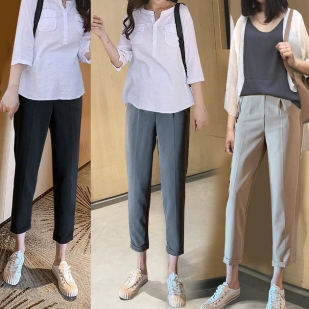 孕婦哈倫褲360度全托腹褲【P8300】高腰托腹褲 哈倫 西裝褲 孕婦牛仔褲 孕婦裝 孕婦褲