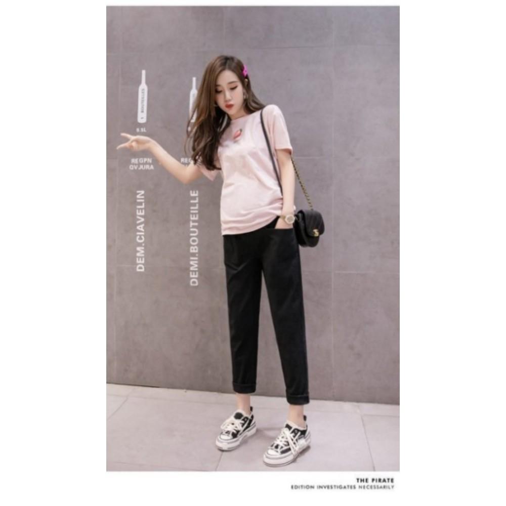 棉麻孕婦褲 【P9003】 孕婦裝 孕婦托腹褲 純色 九分褲 哈倫褲 老爺褲