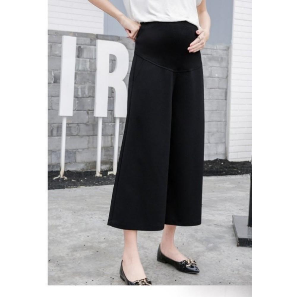 韓國托腹褲 【P9329】 高腰托腹  寬褲 孕婦寬褲 孕婦褲 孕婦裝 九分褲