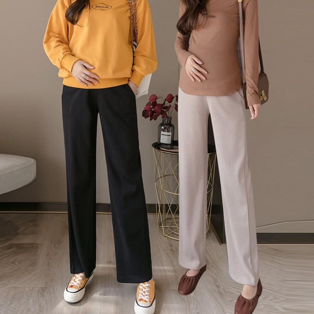 P9392-韓系 實拍 孕婦 寬褲 【P9392】 高質感 寬鬆 高腰 托腹 孕婦褲