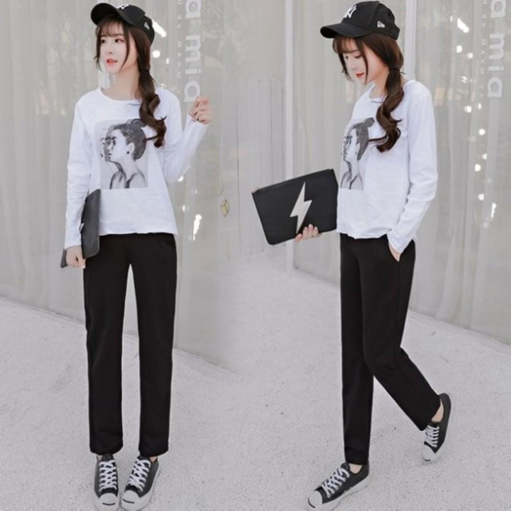 韓國熱銷托腹褲 【P9702】 寬鬆 彈力 老爺褲 九分褲 哈倫褲 孕婦 高腰托腹褲 孕婦裝