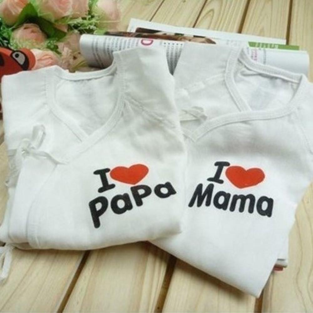 寶寶紗布衣 【PAMA2】 我愛爸媽 新生兒 純棉 蝴蝶裝 紗布衣 兩件組 日單 日本熱銷 封面照片