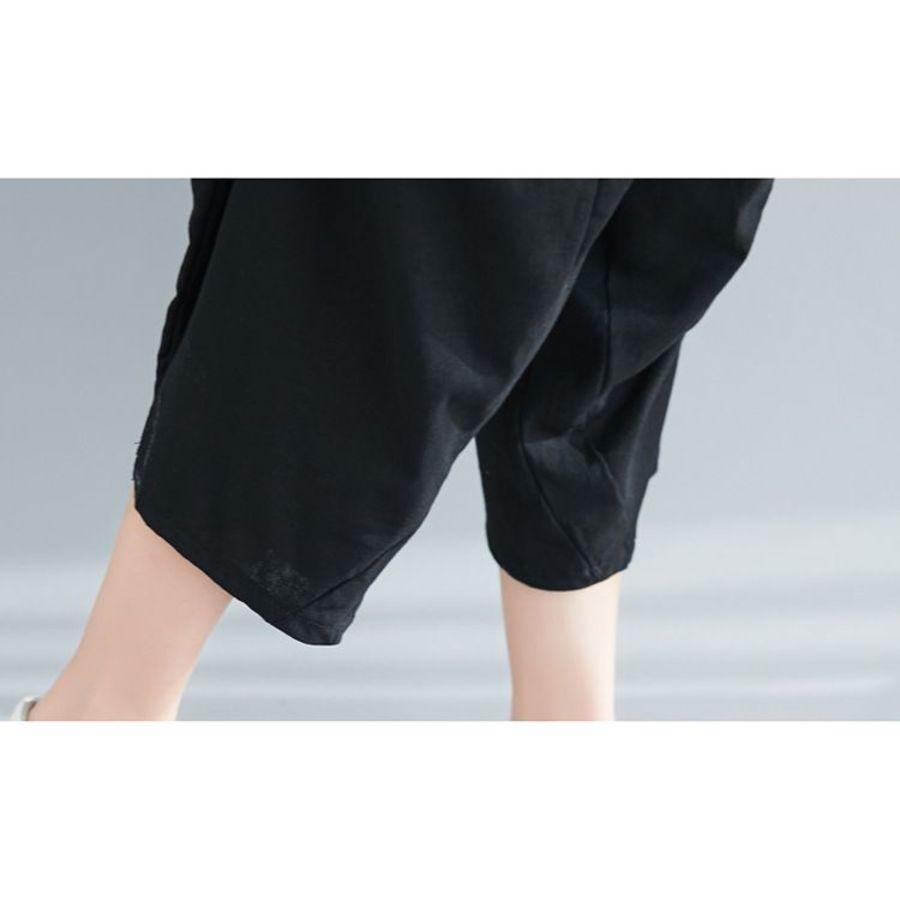 文藝 實拍 寬鬆 燈籠褲 寬褲【PP0415】棉麻 鬆緊 七分褲 哈倫褲