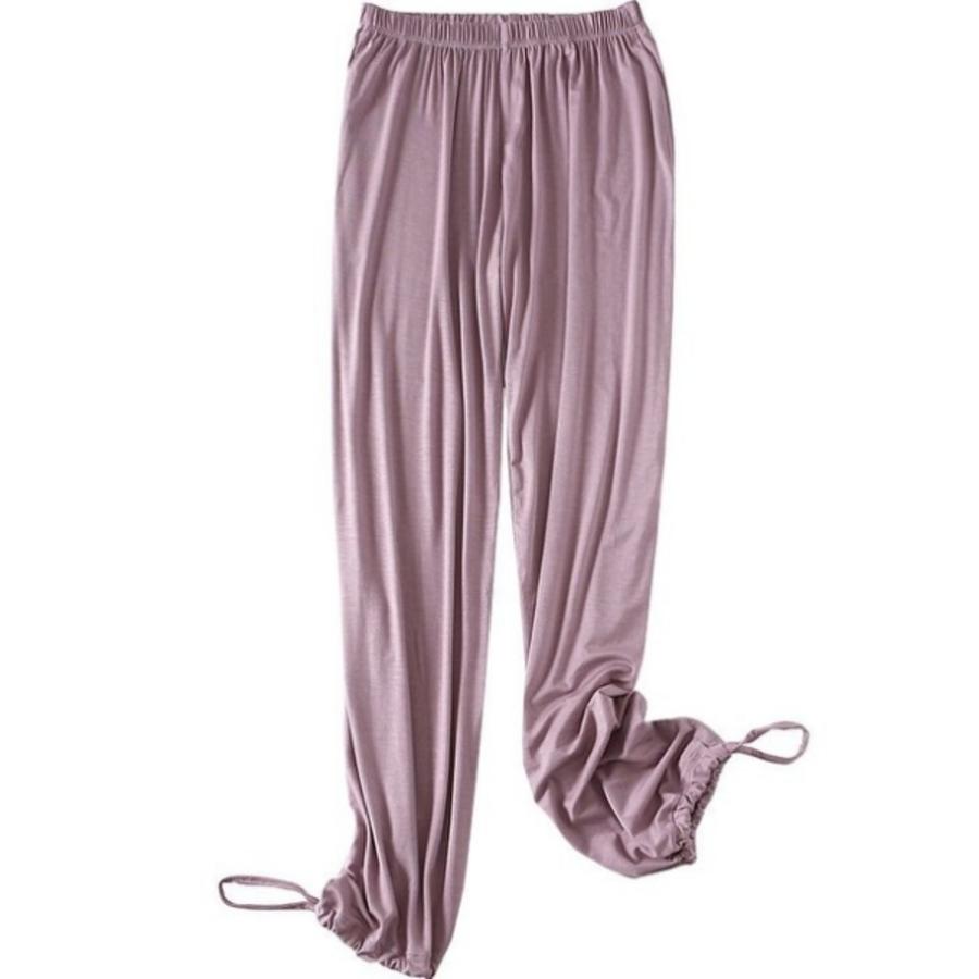 【PP2204】2020春夏新款女裝抽繩收腳褲莫代爾顯瘦闊腿褲女潮牌休閑長褲女
