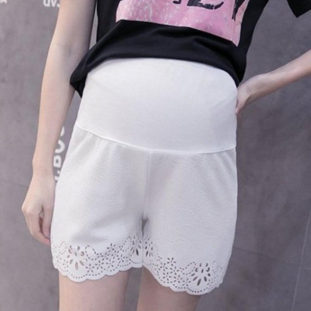 PPW0950ET-鏤空花邊托腹褲 【PPW0950ET】 顯瘦超彈柔軟舒適 孕婦托腹褲 孕婦短褲