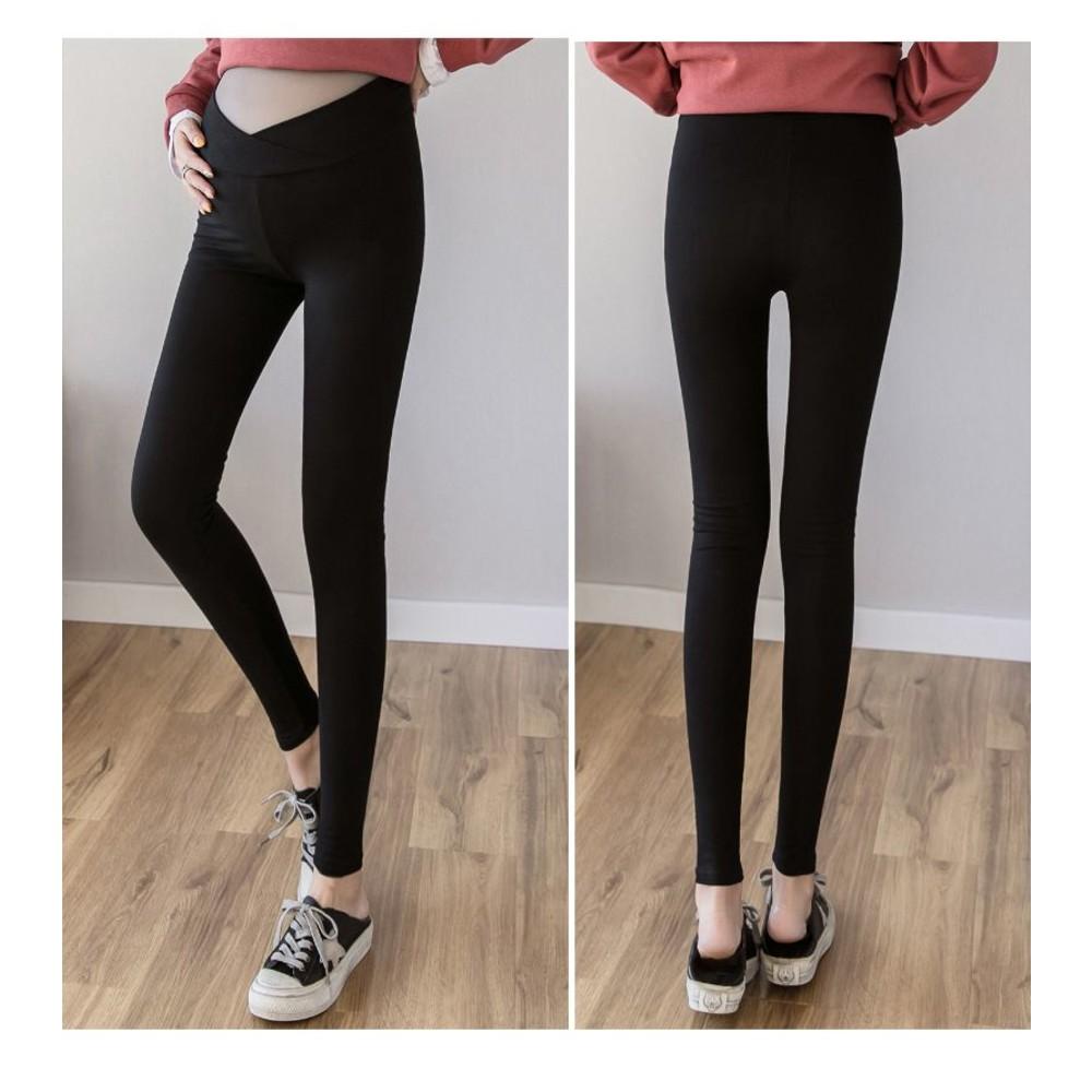 交叉 低腰 托腹褲 【PPW3002LR】 低腰 彈力 內搭褲 孕婦褲 貼腿 孕婦裝 低腰褲