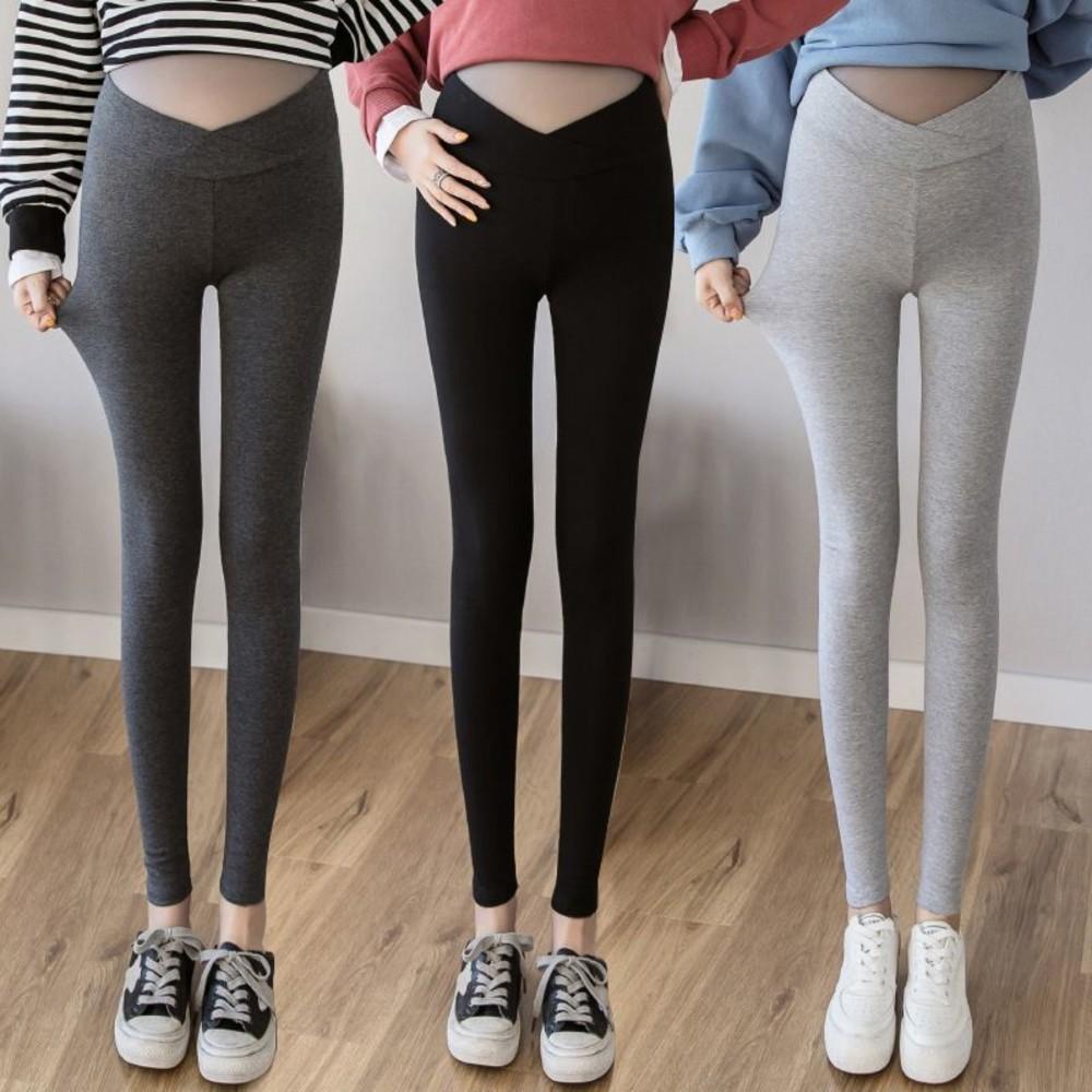 PPW3002LR-交叉 低腰 托腹褲 【PPW3002LR】 低腰 彈力 內搭褲 孕婦褲 貼腿 孕婦裝 低腰褲