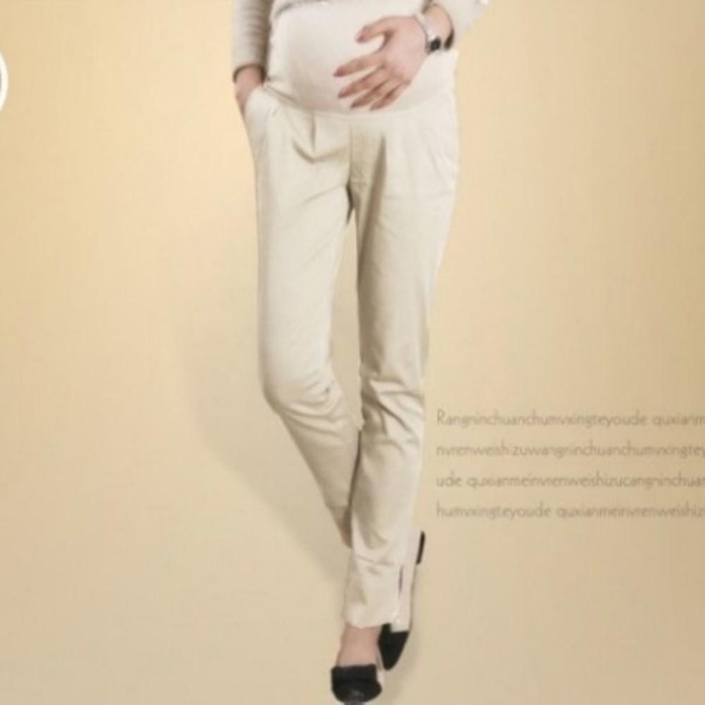 孕媽咪托腹褲 【PPW8007XD】 純棉 上班褲 OL托腹褲 孕婦裝 孕婦褲 修身 顯瘦 休閒