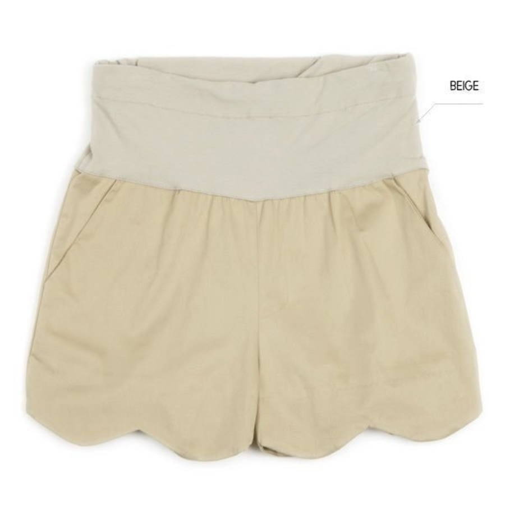 PPW8816XD-波浪托腹褲 【PPW8816XD】 版型偏小 孕婦 短褲托腹褲 孕婦裝 可調式腰圍 顯瘦
