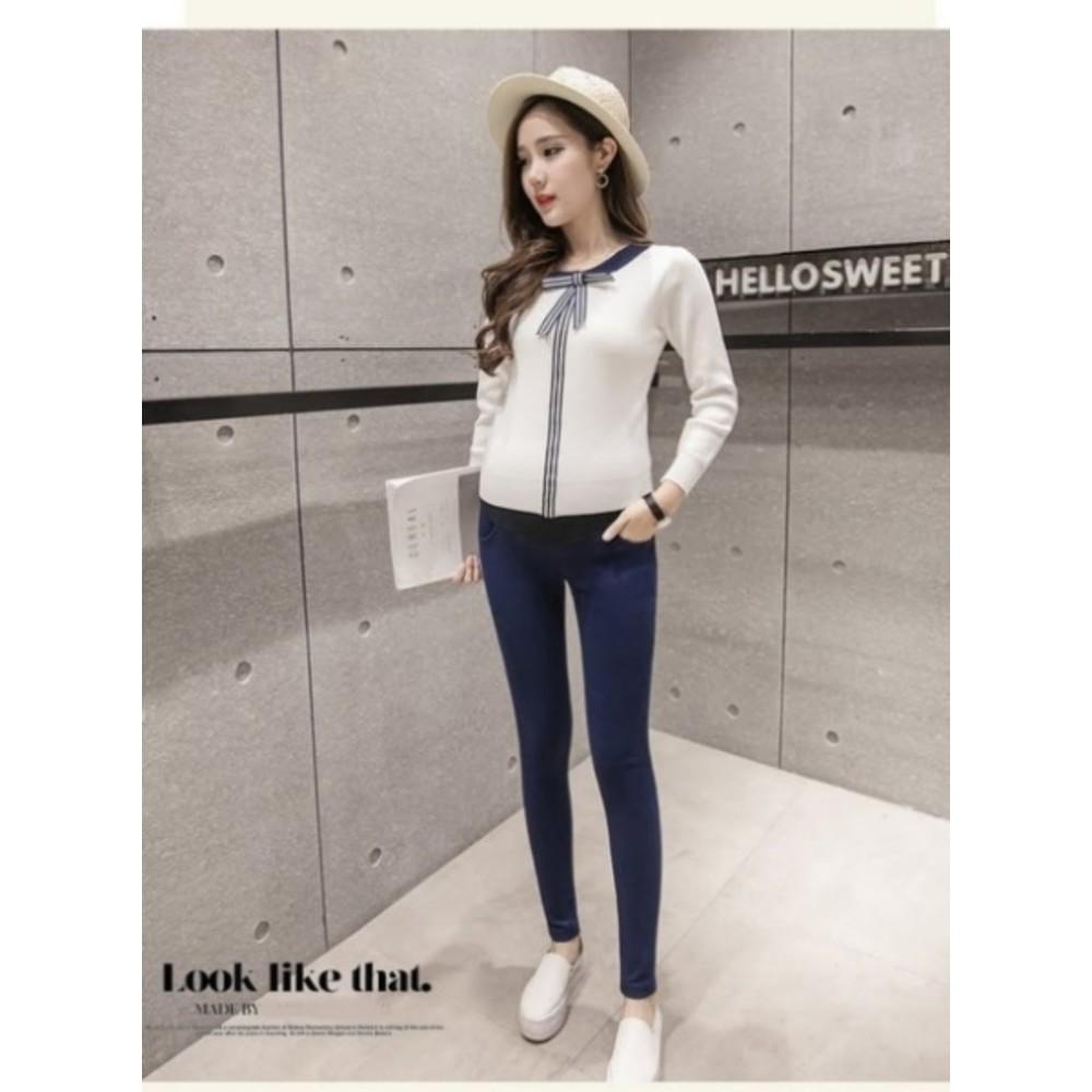 托腹褲 【PPW9063MI】純色 孕婦長褲 可調節 柔軟透氣 托腹 鉛筆褲 孕婦褲 高彈力托婦