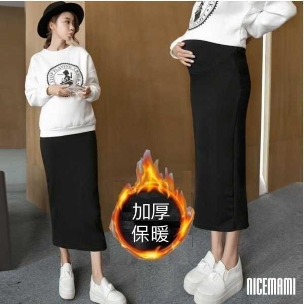 S7003SN-韓系托腹裙 【S7003SN】 加厚 保暖 孕婦裝 長裙 高腰 可調節腰圍 托腹 孕婦裙