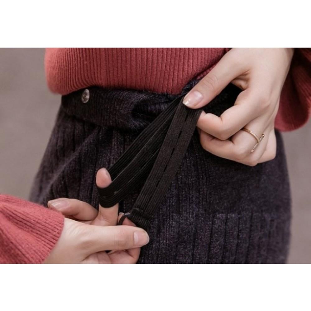孕婦 坑條 針織裙 【S7752】托腹 針織 半身裙 韓系 顯瘦 孕婦裝 長裙 包臀 毛線裙