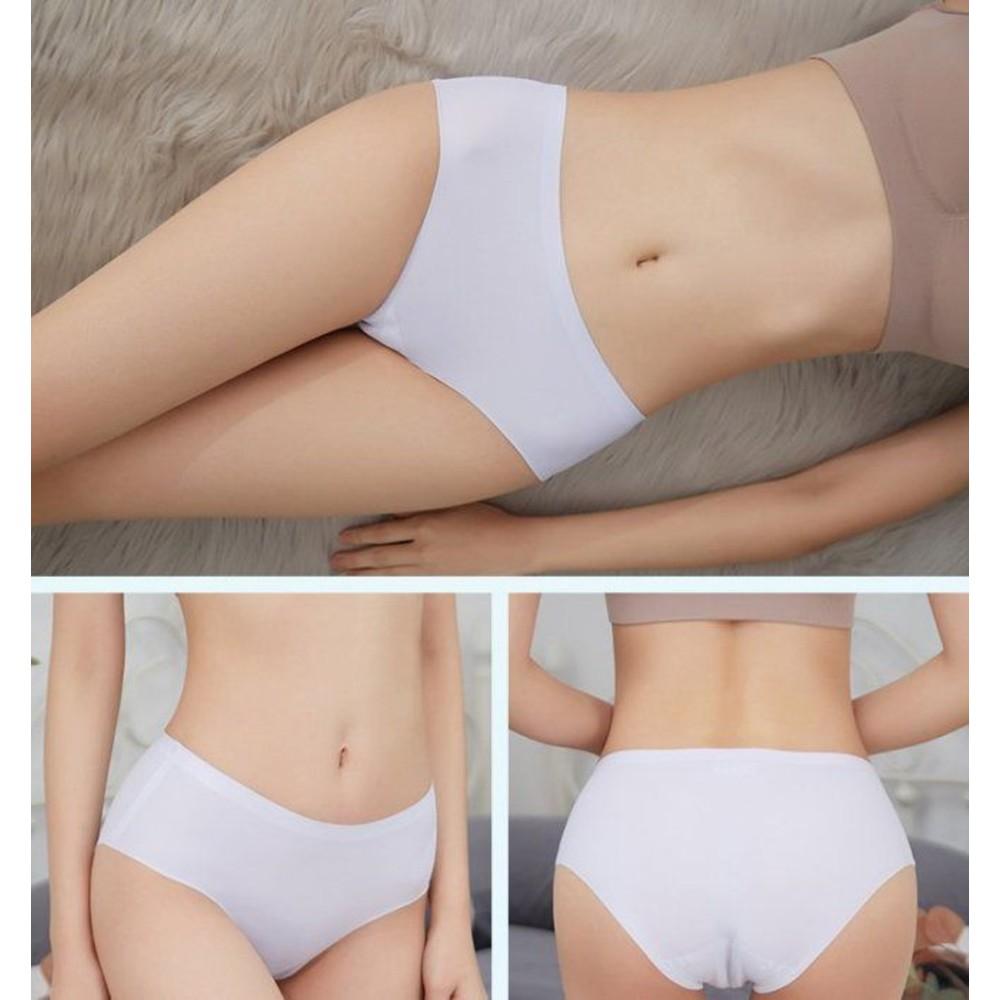 冰絲 無痕內褲【U7777】一片式 內褲 透氣 中腰 性感 女內褲 三角褲